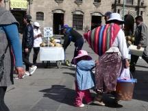 La Paz, Plaza San Francisco, Bolivie, 2017.